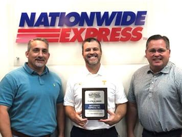2019 National Safety Program Platinum Award- Nationwide Express